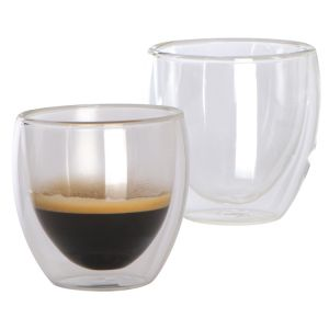 branded Set of 2 double-walled espresso cups