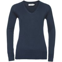 Promo Ladies' V-Neck Knitted Pullover